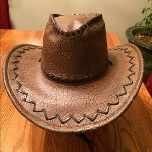 Accessories - 🌹NWOT Cowboy Hat Hand Crafted  Brown